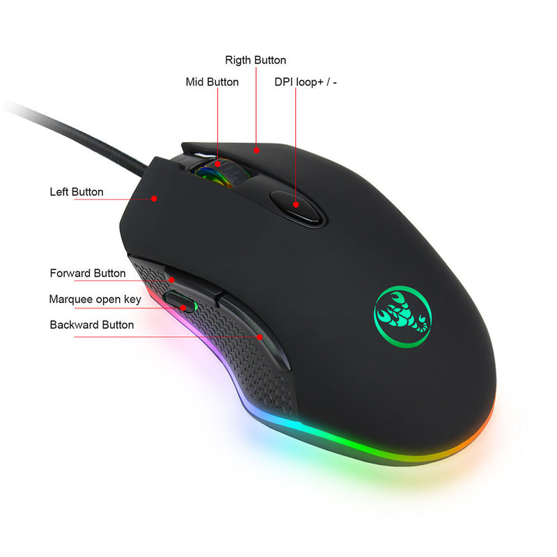 Scorpio Edition 6 Buttons Gaming Mouse - 4800 DPI