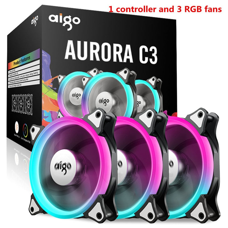 Aigo Aurora C3 PC Computer Case Cooling Fan with Remote Control