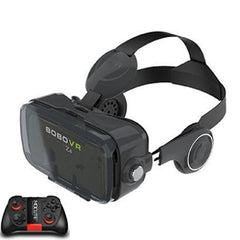 Visionary 3D Virtual Reality Glasses with Headset and Bluetooth Controller