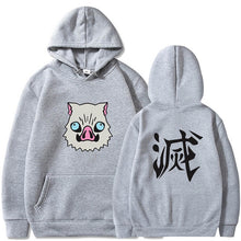 Demon Slayer Hashibira Inosuke Head Hoodie