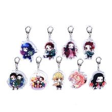 9 piece set Demon Slayer Keychains