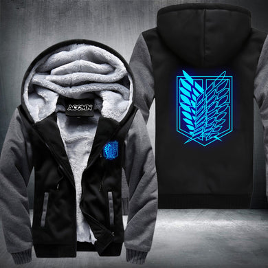 Premium Attack on Titan Zip Up Hoodie Shingeki No Kyojin anime