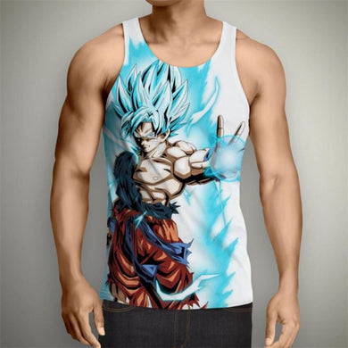 Dragon Ball Z Super- Super Saiyan God Blue Goku Tank Top