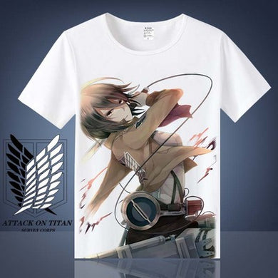 Attack on Titan Mikasa Ackerman T shirt Shingeki No Kyojin