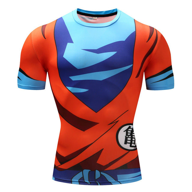 Dragonball z Super- Goku Short Sleeve Workout Compression Shirt