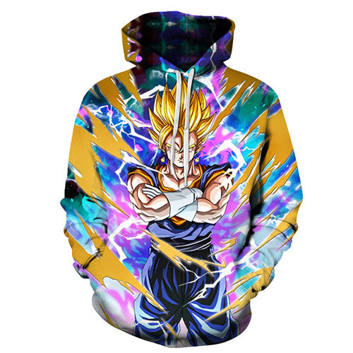 Dragon ball z Super Hoodie - Super Saiyan Vegito