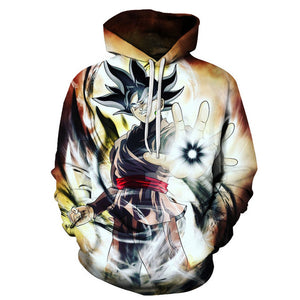 Black Goku Strikes Hoodie Dragon Ball Super