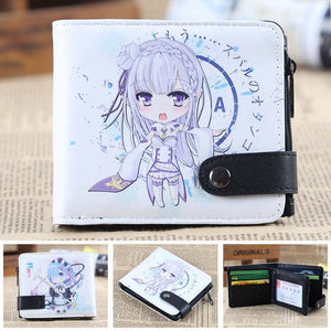 Anime Wallet - Premium Re Zero Emilia and Rem Wallet