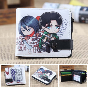 Anime Wallet - Attack On Titan Mikasa and Levi Wallet