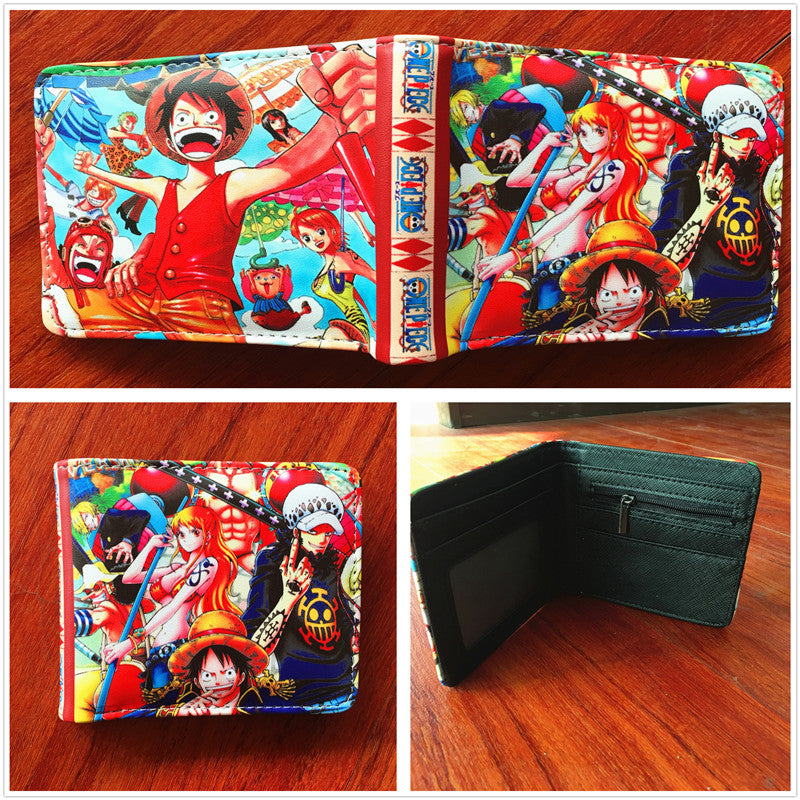 Anime Wallet - One Piece Luffy Straws hats and Trafalgar D Law Wallet