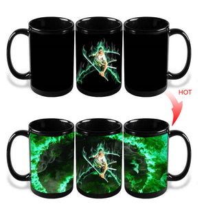 One piece - Roronoa Zoro Heat Sensitive Morphing Mug