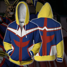 Anime Hoodie- My Hero Academia All Might Zip Up Hoodie
