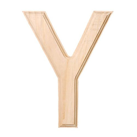 6 Blank Unfinished Wooden Letter Y