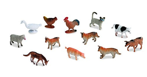 Battat Terra Farm Animals In Tube Action Figure Set