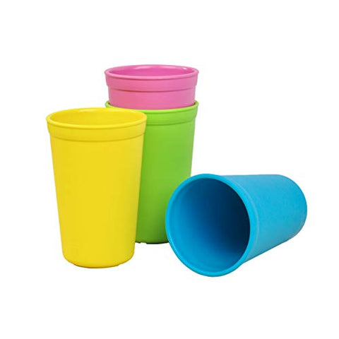 Re-Play Made In The Usa 4Pk Drinking Cups For Baby And Toddlers: Bright Pink, Sky Blue, Yellow, Lime (Easter+)