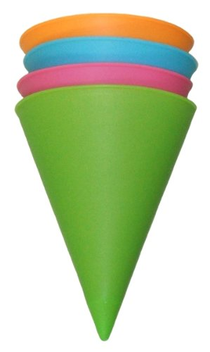 Reusable Silicone Snow Cone Cups - Set Of 4