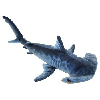 Blue Printed Hammerhead Shark Plush Toy 24 L