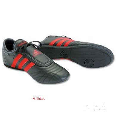 Adidas Martial Arts Shoe, Black W/ Red Stripes, Men'S Size 10