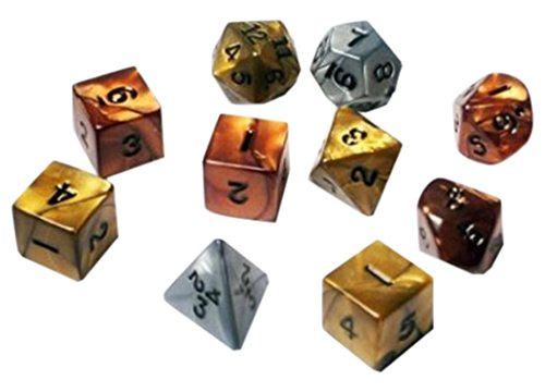1 X Koplow Rpg Dice Sets: Assorted Olympic Polyhedral 10-Die Set By Koplow Games