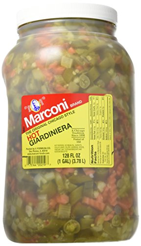 Marconi - The Original Chicago Style Hot Giardiniera - Gallon Plastic Jug