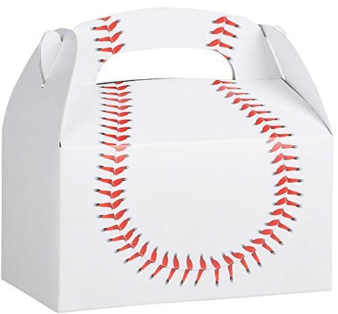Birthday Party Baseball Treat Box Favor Boxes Favors Sports