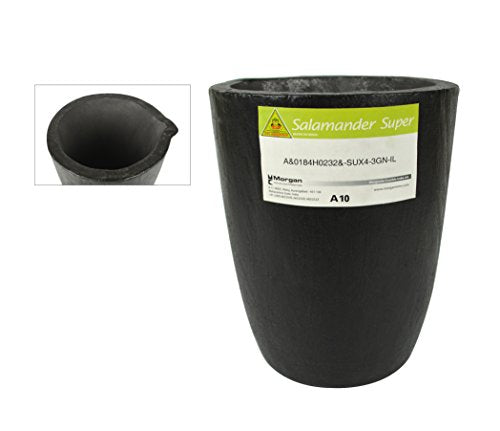 A10 - 18 Kg Salamander Super Clay Graphite Crucible For Precious Metal Melting Casting Gold Brass Silver Refining