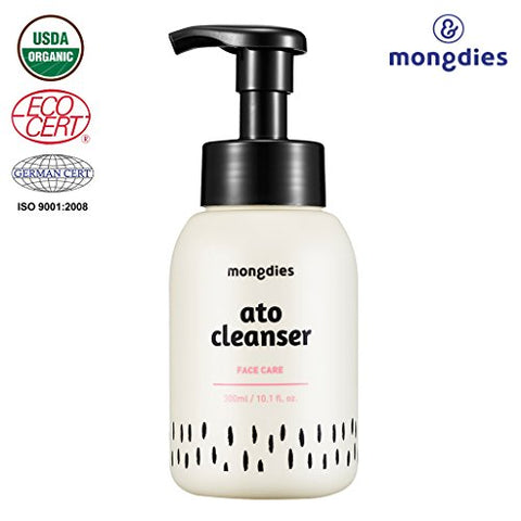 [Mongdies] Hypoallergenic Baby Ato Cleanser 300Ml Ph Moisture Bubble Facial Cleanser - For Baby Atopic Dermatitis & Eczema - Paraben Free And Fragrance Free