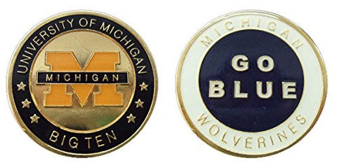 University Of Michigan Wolverines Collectible Challenge Coin - Logo Poker -Lucky Chip