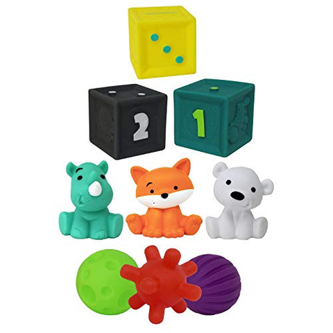 Infantino Tub Of Toys 9 Piece Set