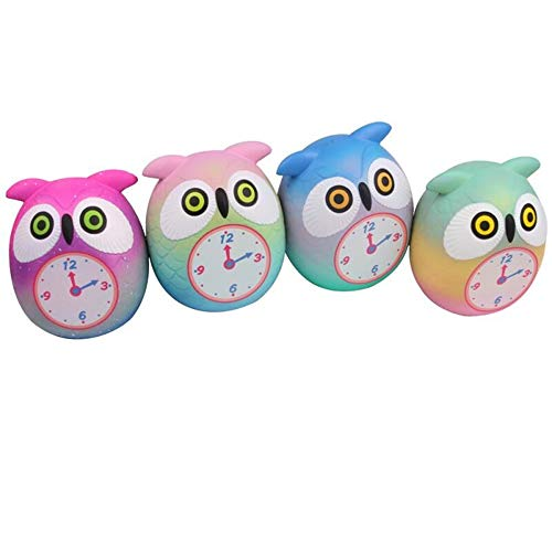 Xuanou Squeeze Cute Owl Clock Slow Rising Cream Funny Decompression Toysama416 Owl Alarm Clock Squishy Pu Slow Rebound Toy