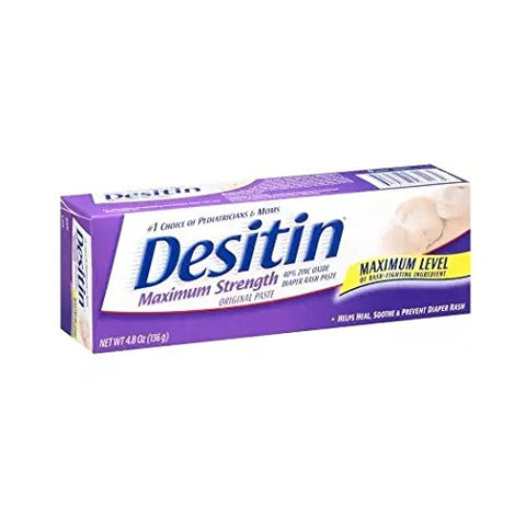Desitin Maximum Strength Original Diaper Rash Paste, 4.8 Oz