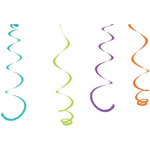 1 - Citronella-Infused Streamers, 4 Pk, Innovative & Fun Way To Create A Pest-Free Environment, 4 Bright & Colorful Streamers Infused With Natural Oils That Are Safe & Easy To Use, Cps4