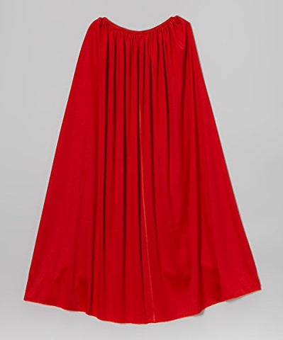 Long Red Super Hero Cape For Children