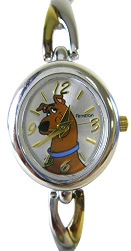 Warner Bro. Two Tone Scooby Doo Watch W/ Bracelet Link