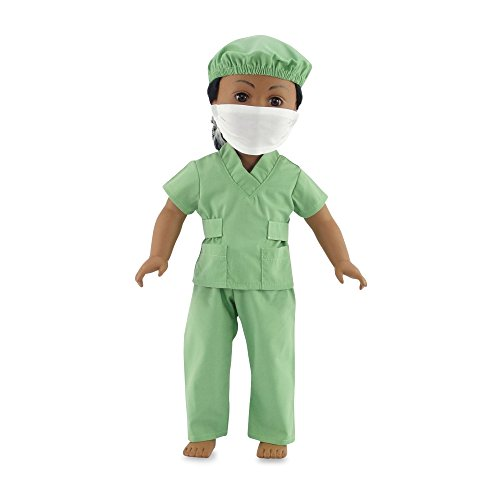 18 Inch Dolls Clothes Hospital Doctor Nurse Scrubs Outfit | Clothing Fits 18 American Girl | Includes Doll Accessories