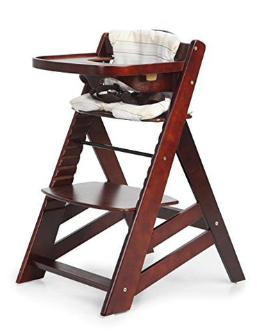 Hot Sale! Sepnine Wooden Baby Highchair With Removeable Tracy 6561 Dark Cherry (Dark Cherry)