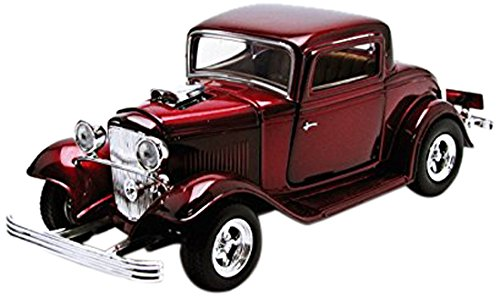 1932 Ford Coupe Black 1:24 Diecast Model Car Motormax (Color May Vary) Diecast Car Model