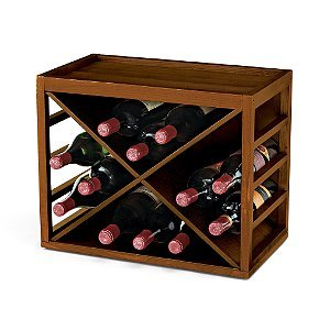 Cube Stack X-Style Wine Rack -Walnut