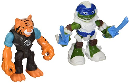 Teenage Mutant Ninja Turtles Half Shell Heroes Space Leonardo And Tiger Claw Basic 2.5  Figures, 2-Packs