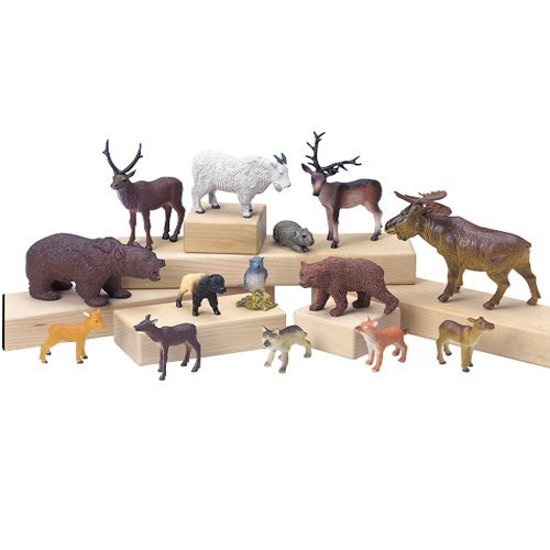 14 Piece Forest Animal Play Set For Kids
