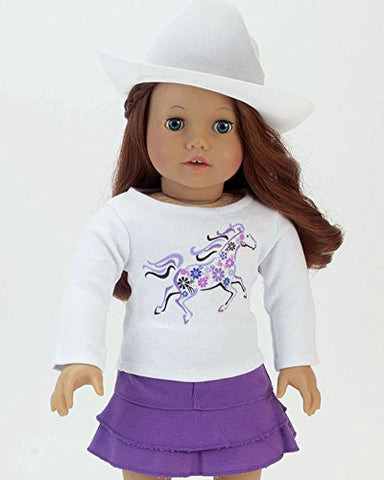 White Cowgirl Doll Hat For The 18 Inch Horse Riding American Girl  Amp  More ! 2c821f841587