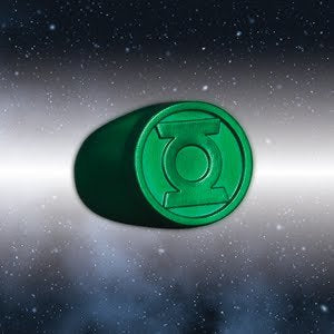 Blackest Night Green Lantern Ring Authentic Dc Comics Plastic
