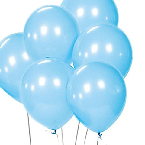 Peacejoy 12 Latex Balloons 100 Per Bag (Light Blue)