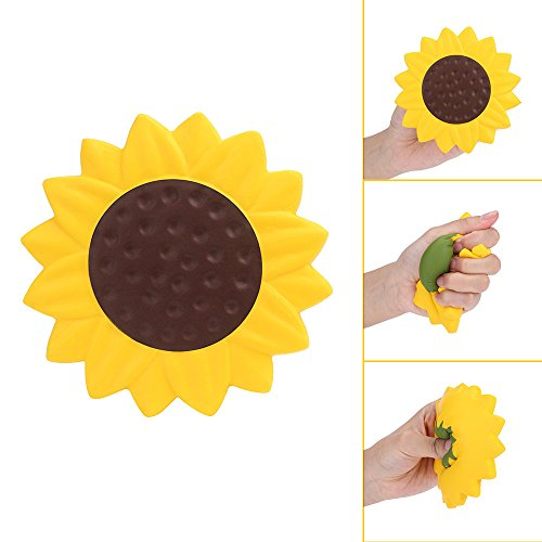 Xuanou Sunflower Funny Charm Slow Rising Collection Squeeze Stress Reliever Toyspu Slow Rebound Squishy Sunflower Toy