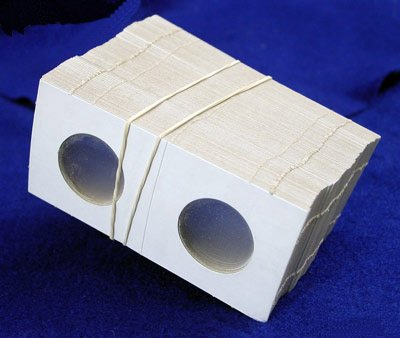 100 2X2 Cardboard Coin Holders Small Dollars By Bcw