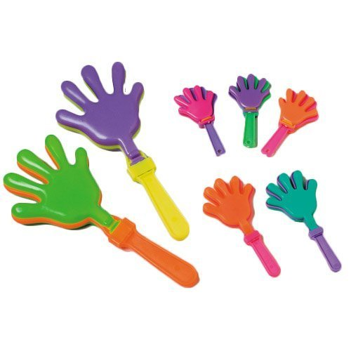 ~ 12 ~ Hand Clappers Noisemakers Favors ~ 7.5 ~ New