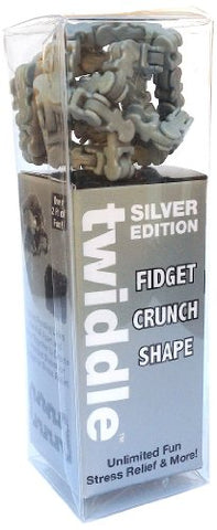 Twiddle Fiddle, Scrunch And Shape Fidget Toy, Silver