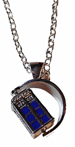 Doctor Who Tv Spinning 3D Tardis Police Box Pendant Necklace