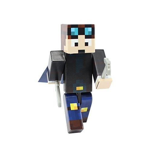 Miner Boy Action Figure Toy, 4 Inch Custom Series Figurines, Endertoys