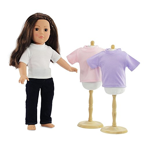 18 Inch Doll Clothes Skinny Jeans And White T-Shirt Basics Outfit | 4 Pieces! Fits 18 American Girl Dolls